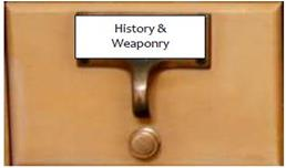 History and Weaponry Page