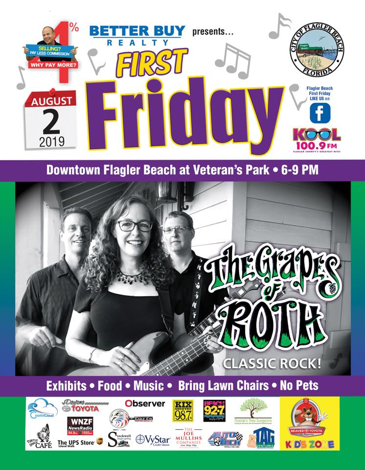 Aug 2019 First friday Poster Grapes of Roth