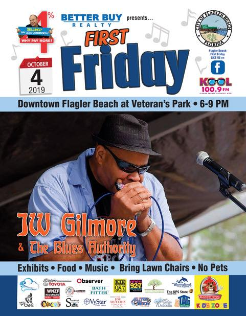 October 2019 First Friday Poster J.W. Gilmore and the Blues Authority