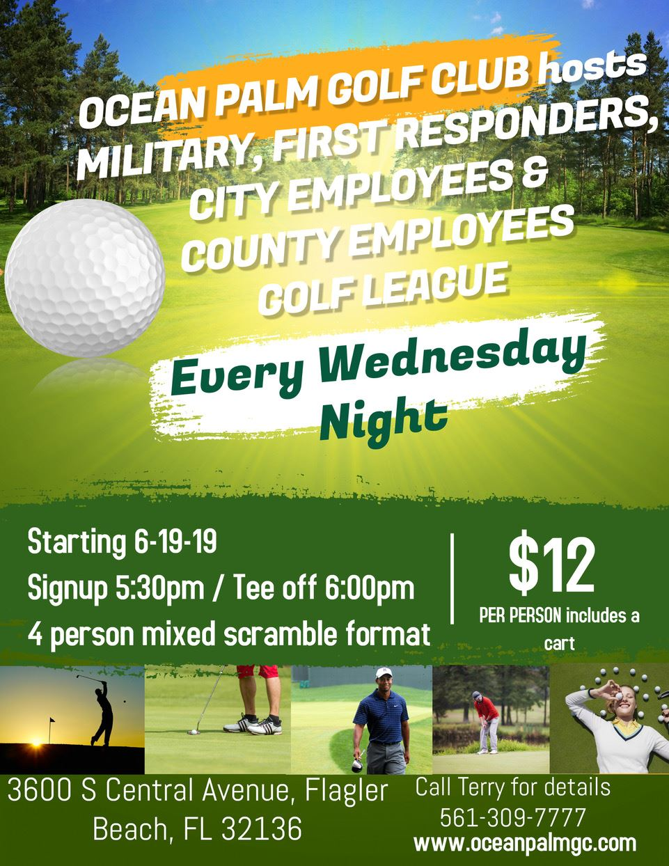 Golf League to honor military, first responders and city and county employee personal at Ocean Palm