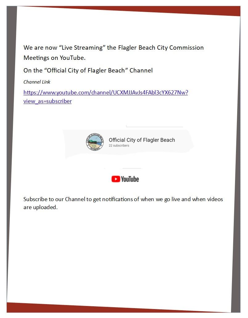 YouTube Channel link information to view commission videos